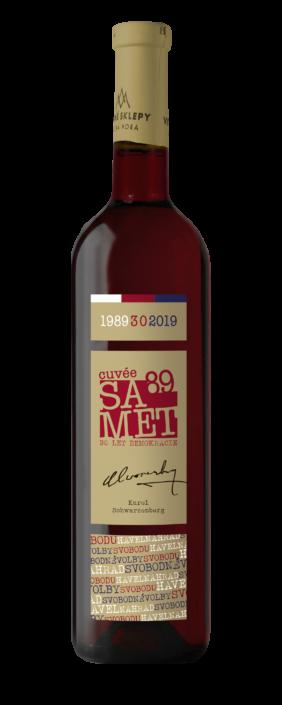 Návrh obalu - Návrh etiket SAMET89 Vinných sklepů Kutná Hora