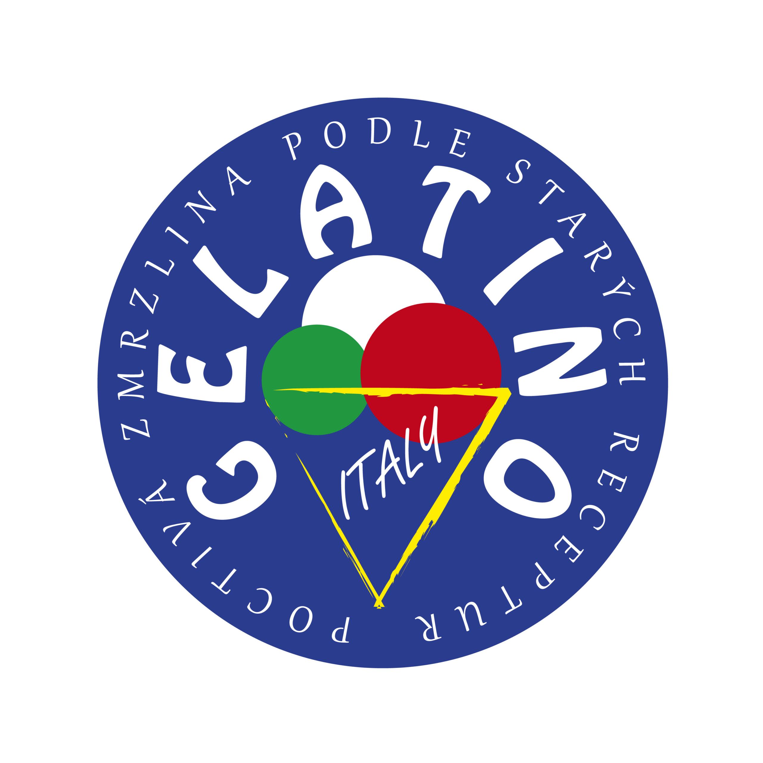 Návrh designu loga zmrzliny GELATINO