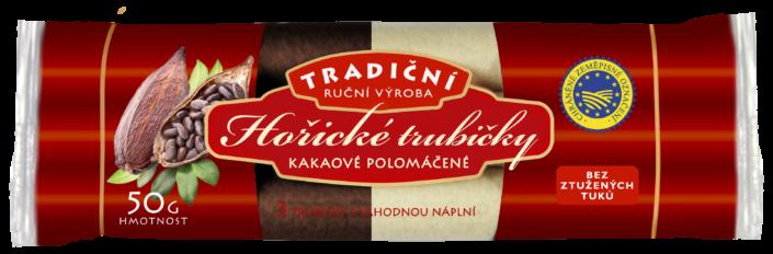 Návrh obalu - Hořické trubičky kakaové polomáčené