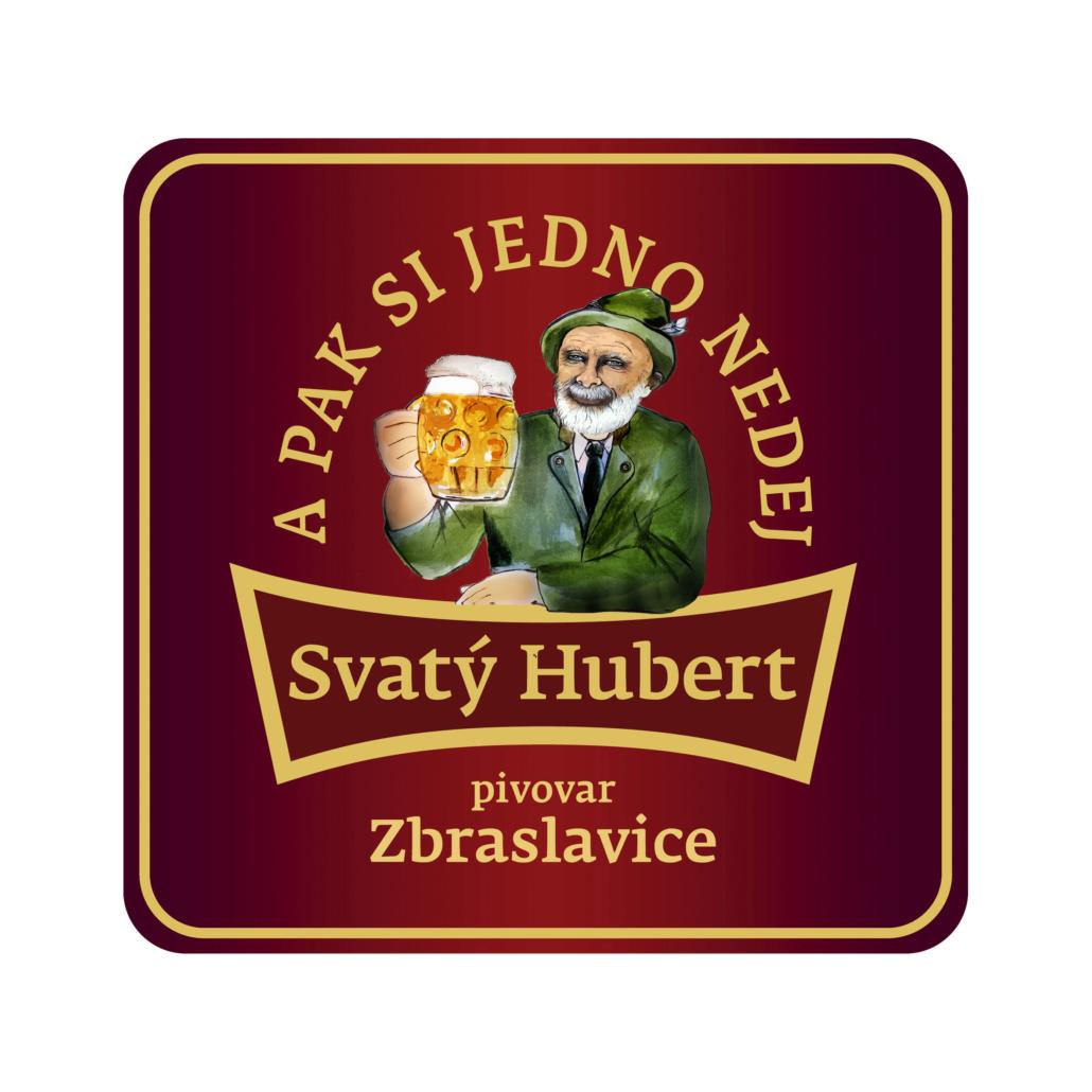 Design pivního tácku pro minipivovar Svatý Hubert