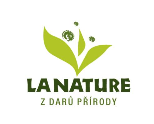 Design etiket a designu loga LA NATURE pro výrobce sirupů.