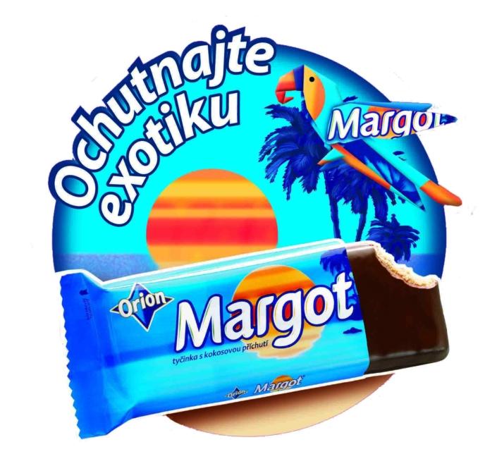 Redesign reklamních materiálů na podporu tyčinek Margot ORION