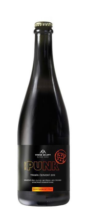 Návrh obalu - WINE PUNK KVEVRI - návrh etiket Vinných sklepů Kutná Hora