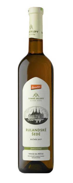Návrh obalu - Návrh etiket RULANDSKÉ ŠEDÉ 2017 Vinných sklepů Kutná Hora