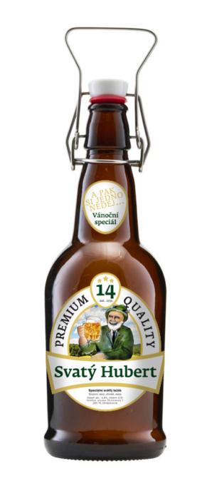 Návrh obalu - Návrh designu pivní etikety Svatý Hubert minipivovar Zbraslavice, Kutná Hora