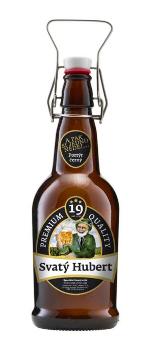 Návrh obalu - Návrh etikety pro pivo Svatý Hubert minipivovar Zbraslavice, Kutná Hora