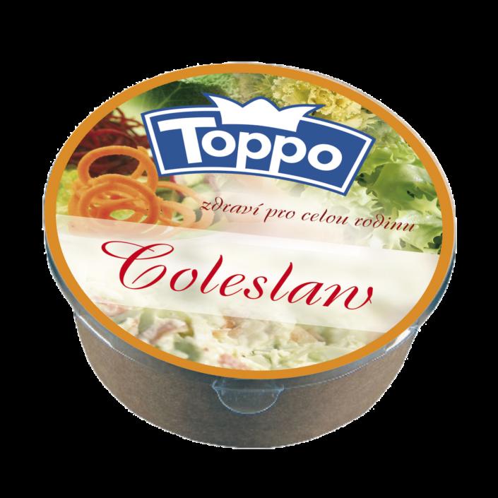 Návrh obalu - etiketa salátu coleslawTOPPO