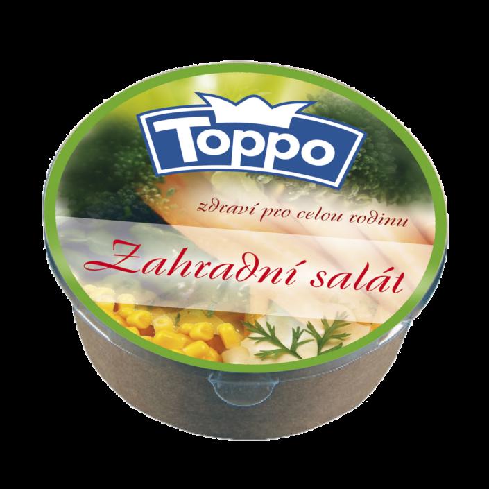 Návrh obalu - etiketa zahradního salátu TOPPO