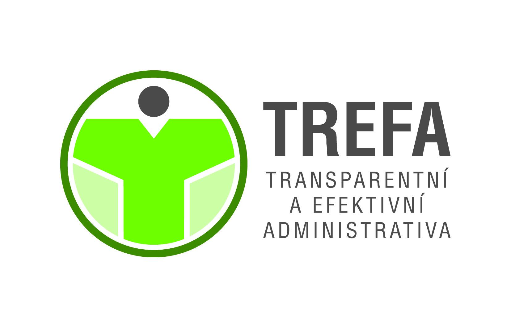 Návrh designu loga TREFA - transparentní a efektivní administrativa